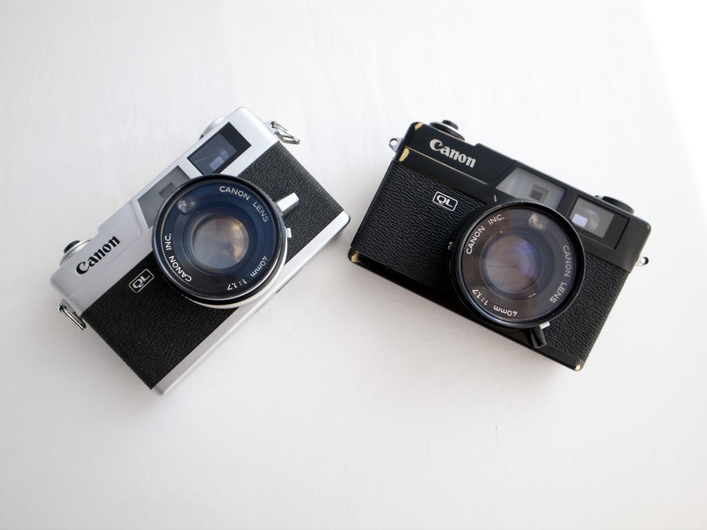 canonet QL17 black paint and the silver chrome versions