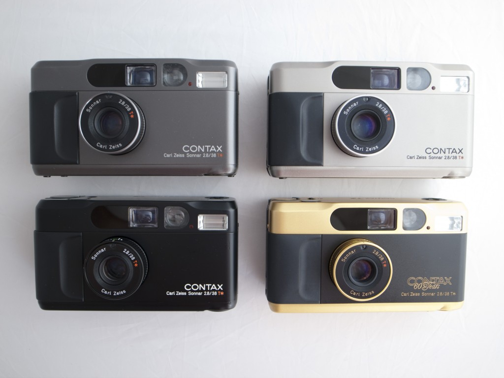 Contax T2 compact film camera selection
