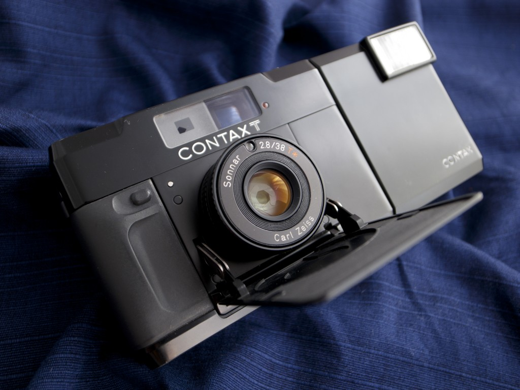 Contax T compact film camera in black