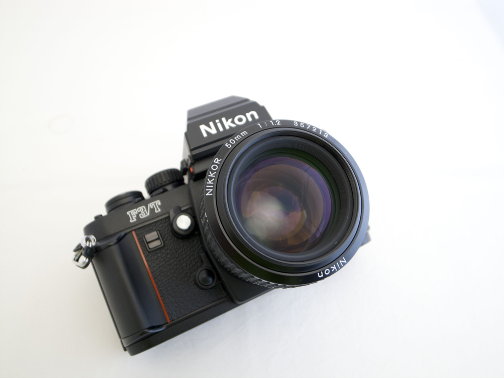 Nikon F3/T SLR film camera with a 50mm 1.2 Ai-s lens