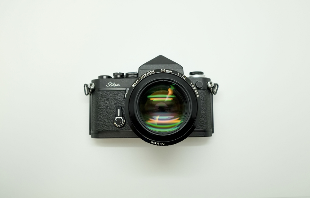 nikon F2 Titan camera with Noct 58mm 1.2 lens
